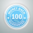 Stock Vector: Vector badge of money back garantee