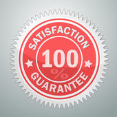 Vector badge of satisfaction garantee — Stock Vector
