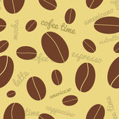 Seamless coffee beans background — Stock Vector