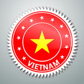 Vietnamese flag label — Stock Vector