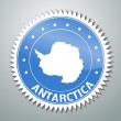 Antarctic flag label — Stock Vector