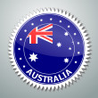 Australian flag label — Stock Vector
