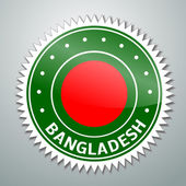 Bangladesh flag label — Stock Vector