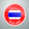 Stock Vector: Thai flag label
