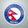 Nepalese flag label — Stock Vector