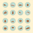 Stock Vector: Set of food's indredients icons
