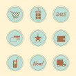 Stock Vector: Set of internet shop icons