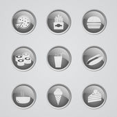 Set of fast food icons — Stock Vector