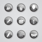 Set of party icons — Stock Vector