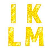Diamante letras i, k, l, m — Vetorial Stock