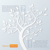 Abstract vector tree — Stock Vector