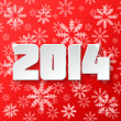 Stock Photo: Happy new year 2014 design