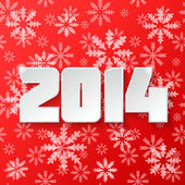 Happy new year 2014 design — Stock Photo