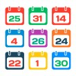 Stock Vector: Calendar icons
