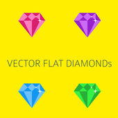 Flat diamonds — Stock Vector