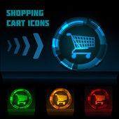 иконка корзина покупка — Cтоковый вектор