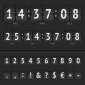 Vektorové odpočítávací měřič a vysvědčení čísla — Stock vektor