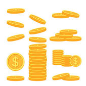 Flat vector money icons — Stock Vector