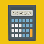 Calculator fla — Stock Vector