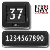 Analog flip day counter on white — Stock Vector