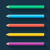 Flat pencils — Stock Vector