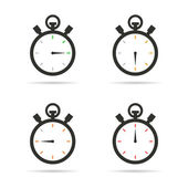 Stopwatch icons set — Stock Vector