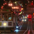 Cable car trolley travels down union square — Stock Video #13928665