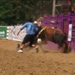 Rodeo Bull Riding Tragedy — Stock Video #13997280