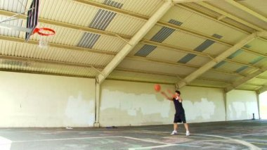 Funny Free Throw Shot — Stock Video