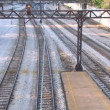 Stock Video: Speedy Chicago El Trains