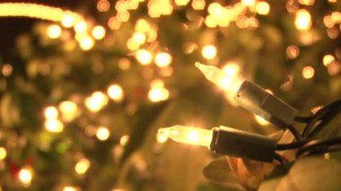 Christmas Lights Close Up — Vídeo de Stock
