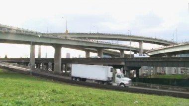 Overpass Traffic — Stock Video