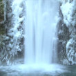 Multnomah Falls frozen in winter — Stock Video #21174897