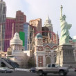 LAS VEGAS, NEVADA - CIRCA 2012: Las Vegas Boulevard Strip with many walking by on sunny day. — Stock Video