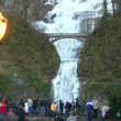 Multnomah Falls in Oregon during winter — Stock Video #21192353