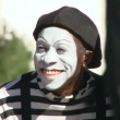 Street mime smiling and performing for tourists in Las Vegas, Nevada. — Stock Video #21195407