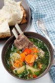 Kazakh soup - shurpa — Stock Photo