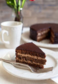 Homemade chocolate cake — Stock Photo