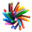 Many colourful felt tip pens — Stock Photo