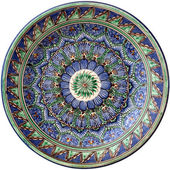 Middle east traditional round plate — Stock Photo