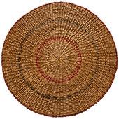 Round straw matt — Stock Photo