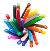 Many colourful felt tip pens — 图库照片