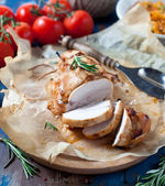 Baked chicken breasts — Stock Photo