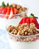 Muesli with greek yogurt — Stock Photo