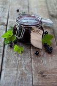 Black currant jam — Stock Photo