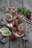 Strawberry water — Stock Photo