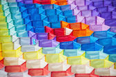 Pipas coloridas textura. — Foto Stock