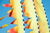 Sinalizadores de pipas no céu. — Foto Stock