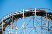 NEW YORK - JUNE 27: Cyclone Roller-coaster on June 27, 2012 in N — Stock Photo