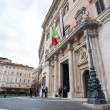 Stock Photo: ROME - SEPTEMBER 13. Montecitorio Palace in Rome, seat of the It